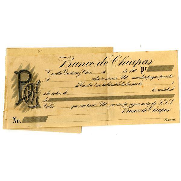 Banco de Chiapas 1907 Proof Check