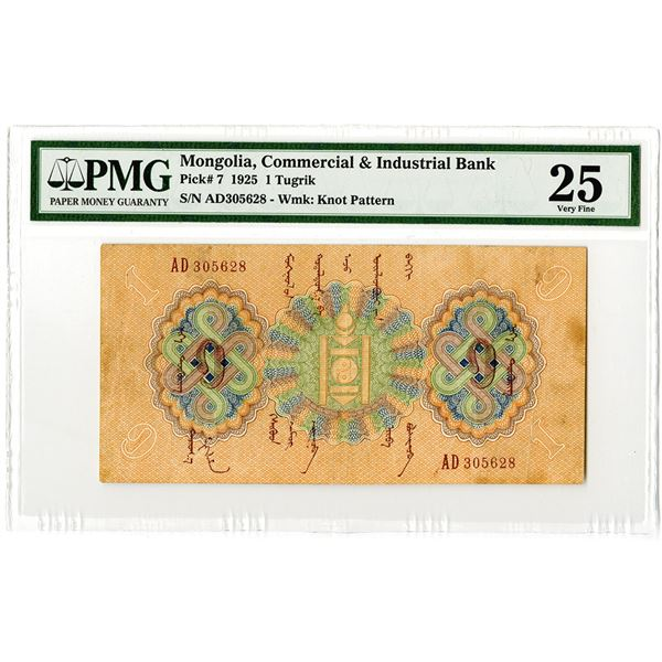 Commercial & Industrial Bank. 1925. Issued Banknote.
