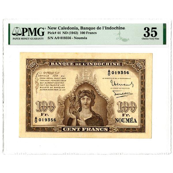 Banque de l'Indochine, ND (1942) Issued Banknote