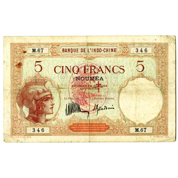 Banque de l'Indo-Chine. ND (1941) Issue Banknote.