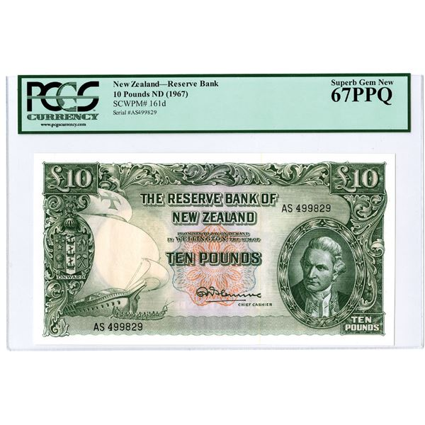 Reserve Bank of New Zealand, ND (1967) High Grade Issued Banknote.