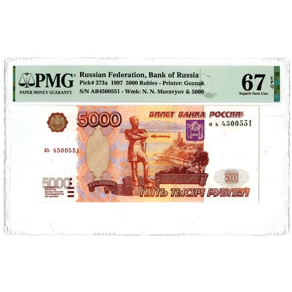 Bank of Russia, 1997 Issued Banknote