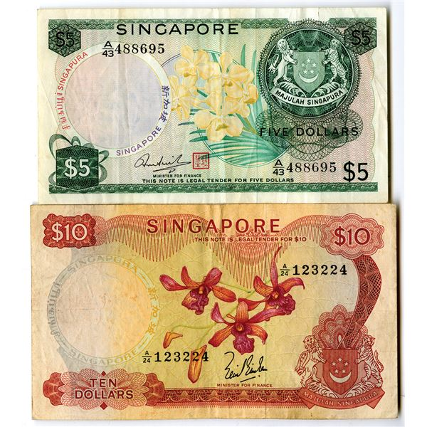 Board of Commissioners of Currency Issued Banknote Pair, ND (1967-73)