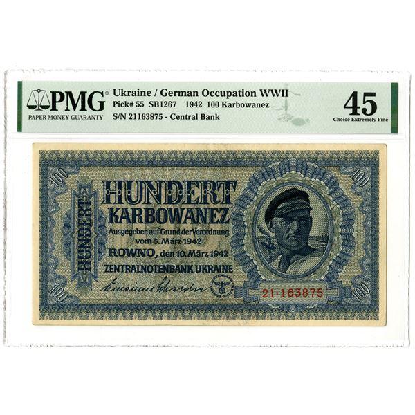 Zentralnotenbank Ukraine, 1942 Issued Banknote