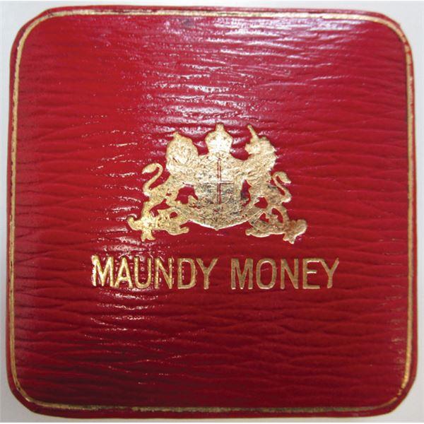 Maundy Money Coin Quartet in Case, 1941
