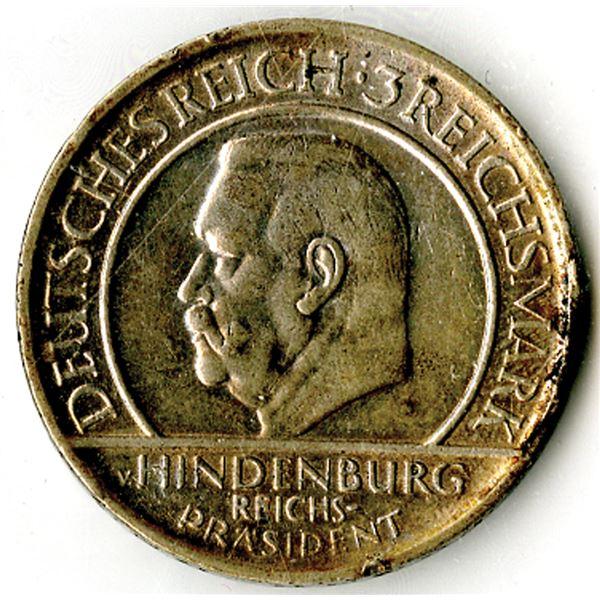 Germany, Weimar Republic, 1929, 3 Reichsmark, KM#63