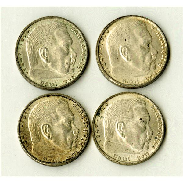 Germany, Third Reich, 1938, 2 Mark, KM#93 Coin Assortment.