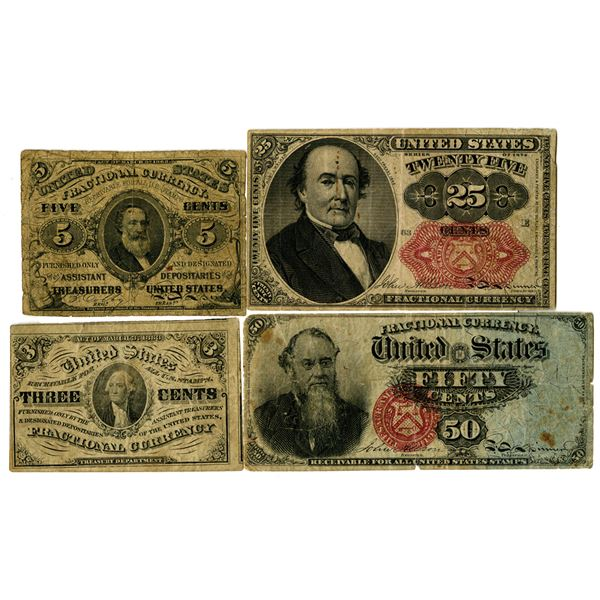 U.S. Fractional Currency Issue Quartet