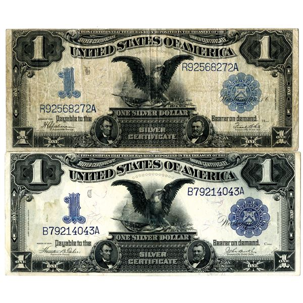 U.S. Silver Certificate, $1, Fr#'s 233 and 236, Series of 1899 Banknote Pair.