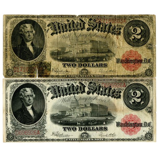 United States Note, $2 Pair, Fr#60, Series of 1917