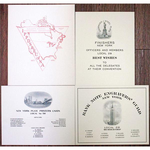 Engraver and Plate Printer 1983 Membership Souvenir Card Quartet.