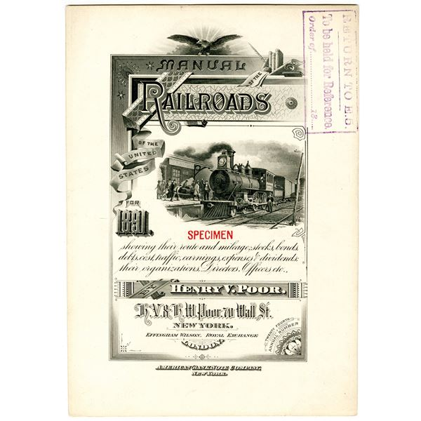 Manual of the Railroads of the United States for 1891 Specimen Cover