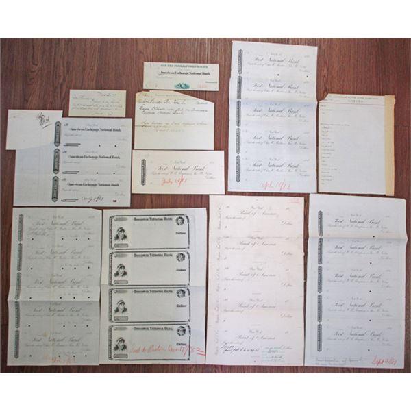 New York Proof Check & Ephemera Group Lot, ca. 1870-1880s