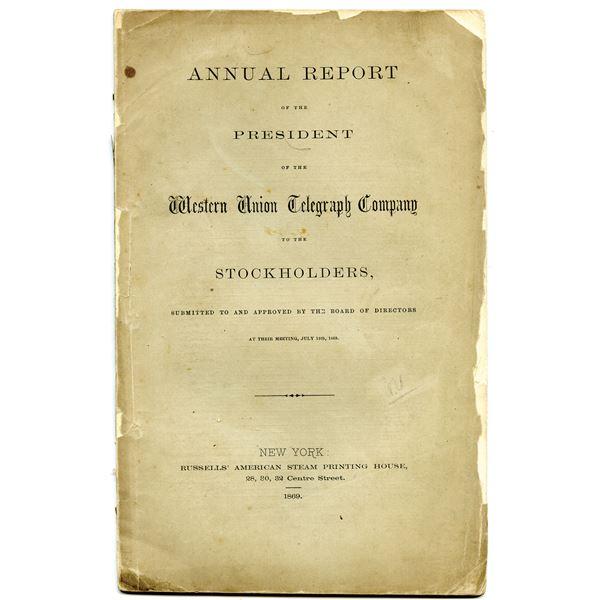Western Union Telegraph Co. 1869 Annual Stockholder Report