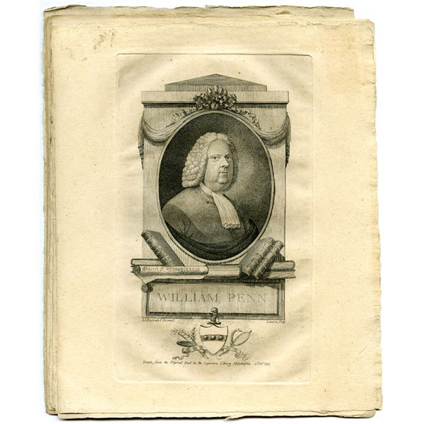 William Penn Engraving Group Lot of 11, ca.1790-1800
