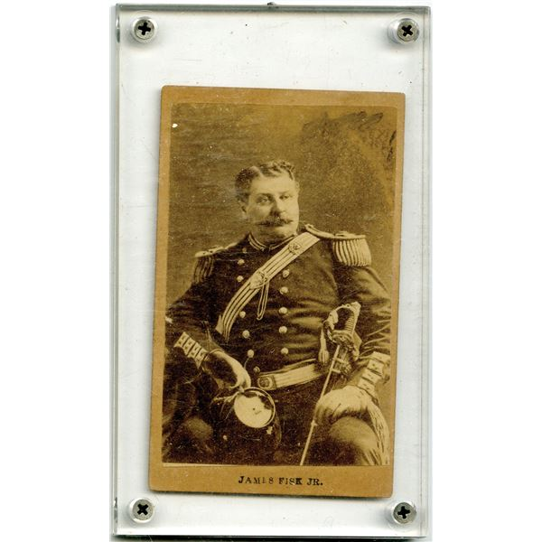 James Fisk Jr. Mounted Photograph in Protective Holder