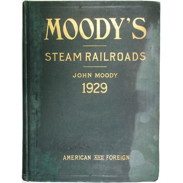 Moody's Manu of Investments, American and Foreign, Railroad Securities, 1929 Edition