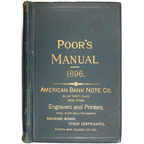 Poor's Manual of the Railroads of the United States, 1896 Edition