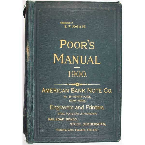 Poor's Manual of the Railroads of the United States, 1900 Edition
