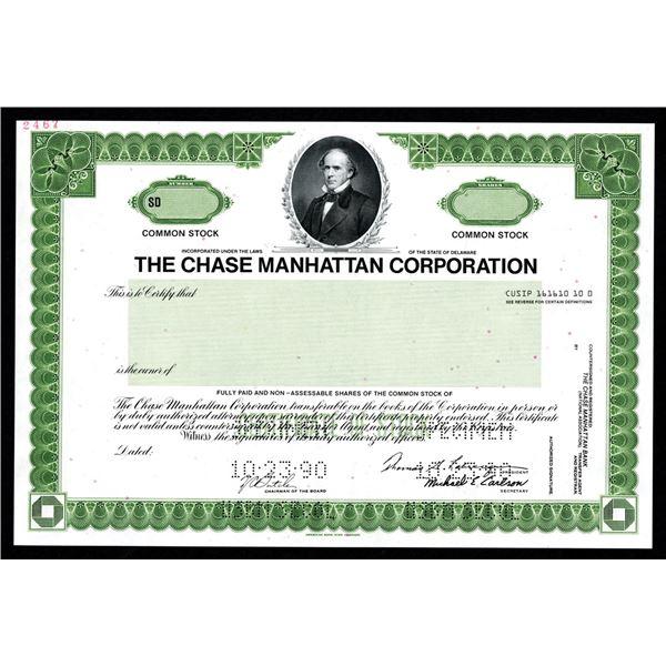 Chase Manhattan Corp. 1990 Specimen Stock Certificate.