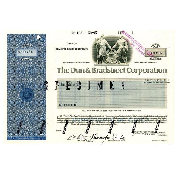 Dun & Bradstreet Corp. 1982 Specimen Stock Certificate