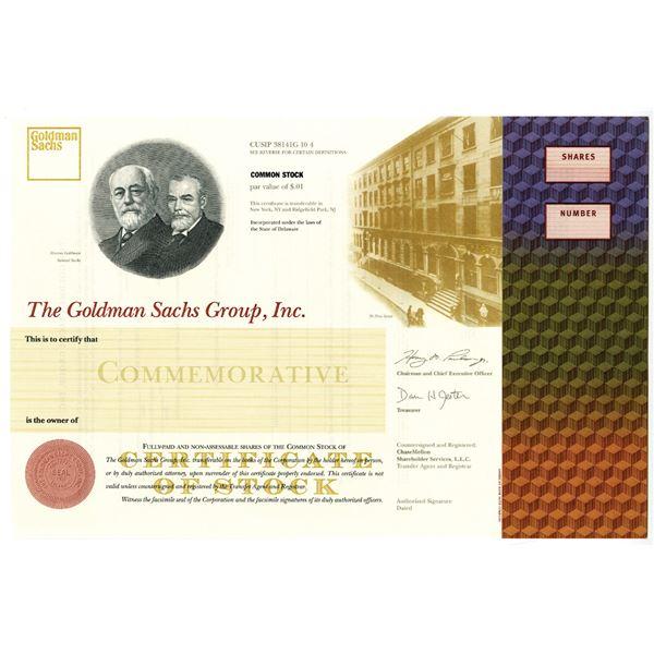 Goldman Sachs Group, Inc., 1998 Commemorative IPO Stock Certificate
