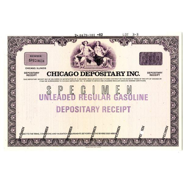 Board of Trade, Chicago Depositary Inc. 1982 Specimen Depositary Receipt