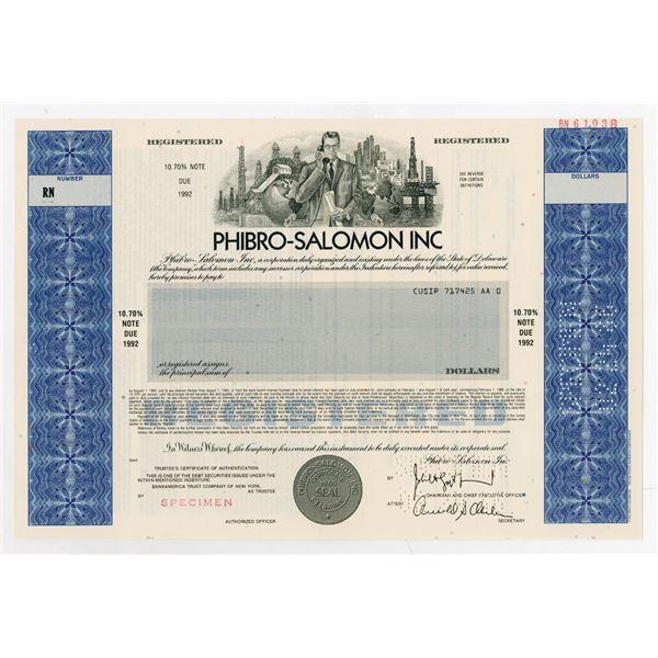 Phibro-Salomon Inc, 1986 Specimen Registered Bond.