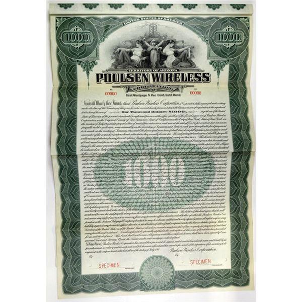 Poulsen Wireless Corp., 1911 Specimen Bond.