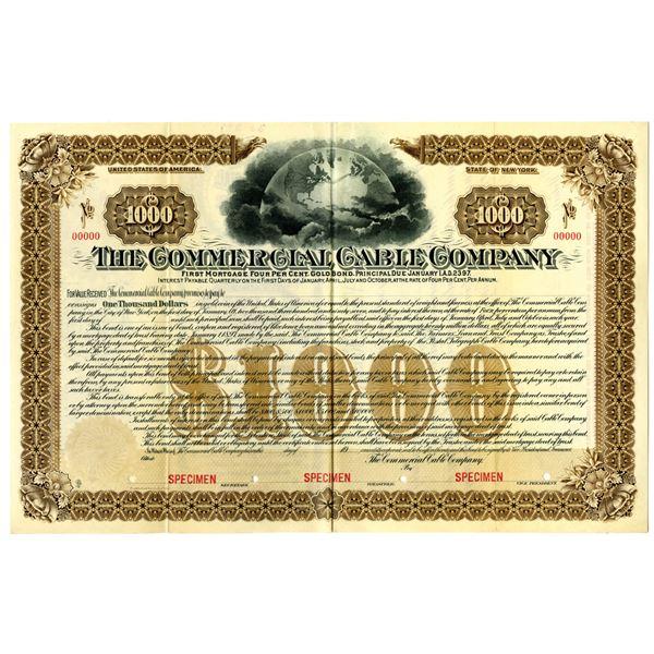 Commercial Cable Co. 1897 Specimen Bond