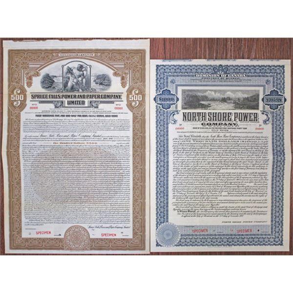 Canadian Power Company Bonds, ca.1907-27 duo