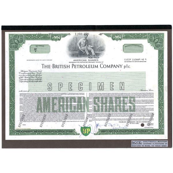British Petroleum Co. p.l.c., 1987 Unique Approval Proof Mock-Up Stock Certificate