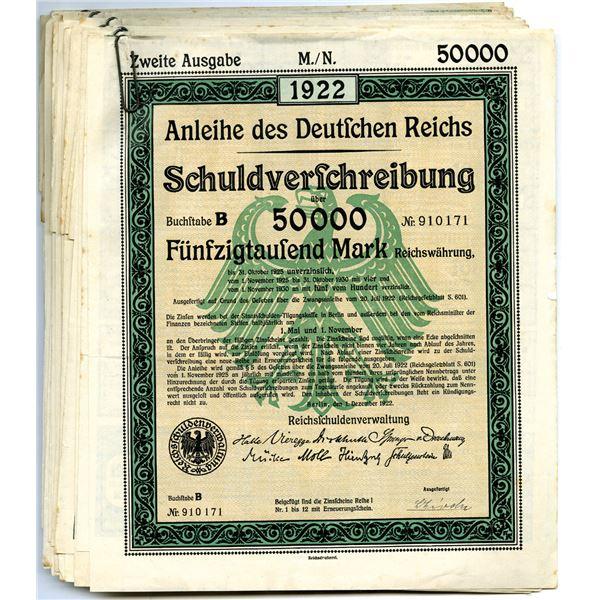 Reichsschuldenverwaltung, Group of 16 Issued German Bonds