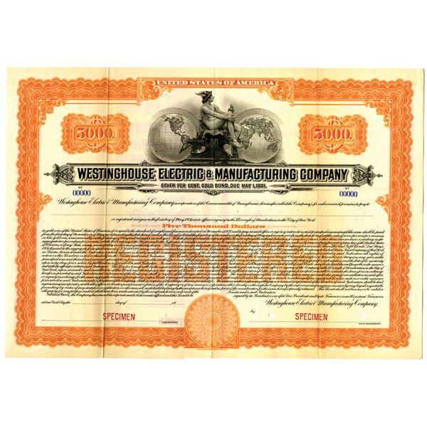 Westinghouse Electric & Manufacturing Co. Specimen Bond