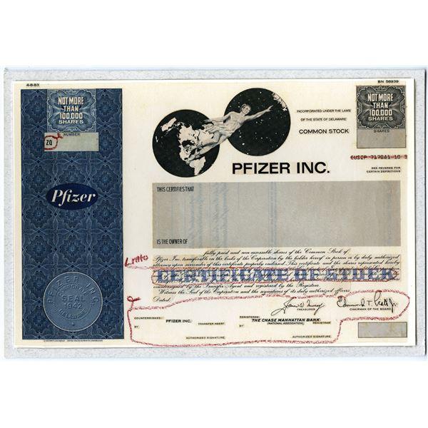 Pfizer Inc. 1983 Unique Production Model and Also Historic Covid Vaccine Innovator.