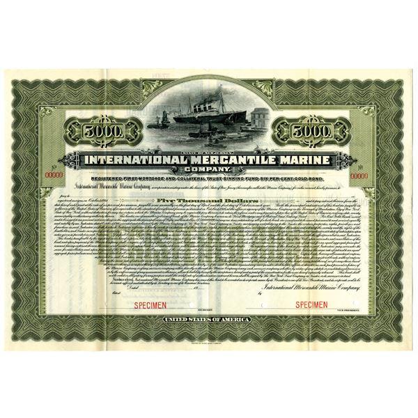 International Mercantile Marine Co., 1916 Historic Specimen Bond from J.P. Morgan Controlled Company