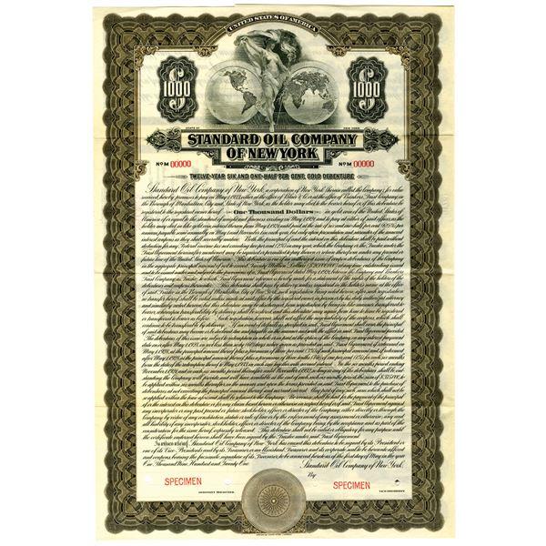 Standard Oil Company of New York 1921 Specimen Bond