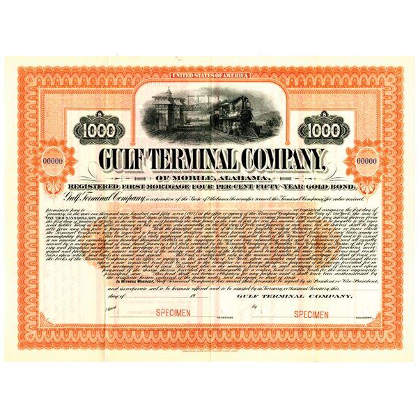 Gulf Terminal Co. 1907 Specimen Bond Rarity