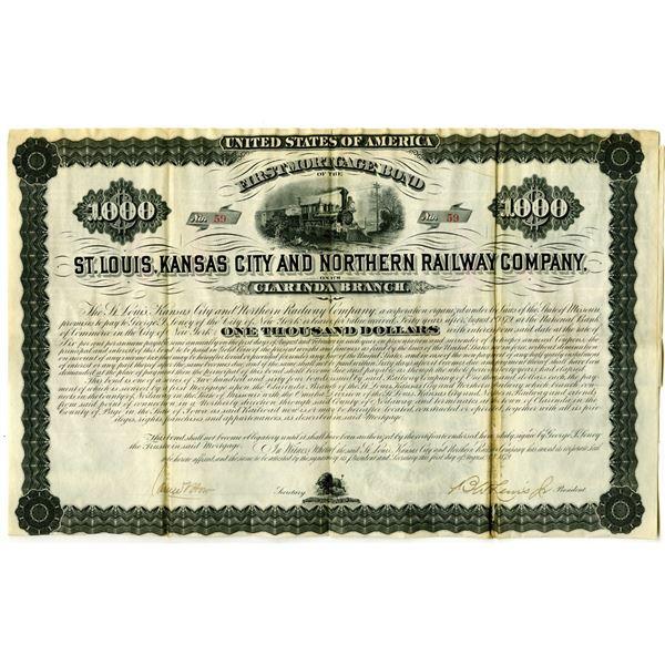 St. Louis, Kansas City and Northern Railway Co. 1879 I/U Bond