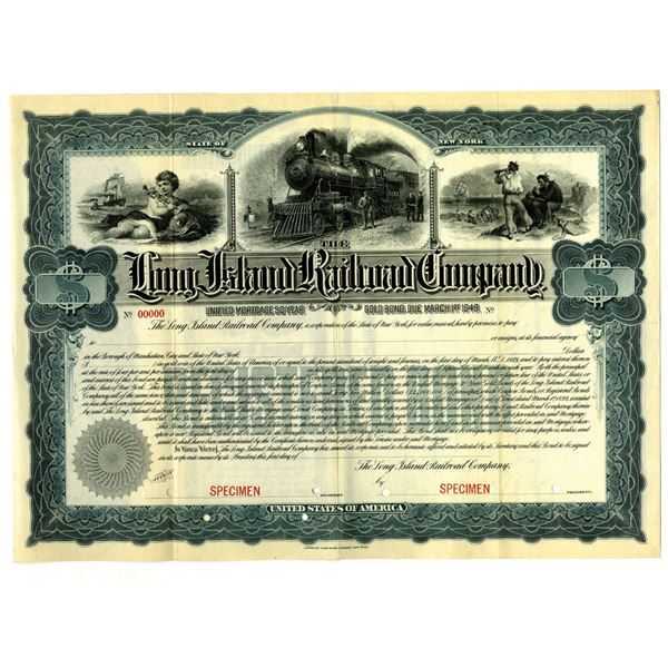 Long Island Railroad Co. 1899 Specimen Bond Rarity