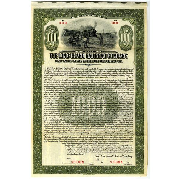 Long Island Railroad Co. 1917 Specimen Bond