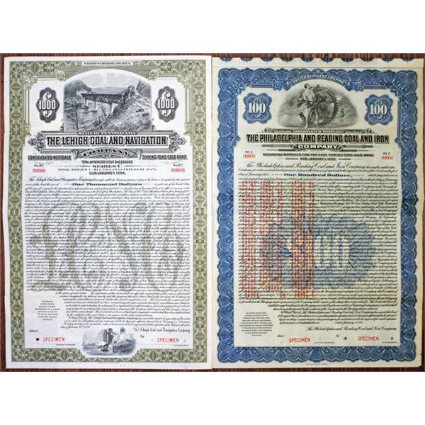 Pennsylvania Railroad Co., 1924-30 Specimen Bond Pair