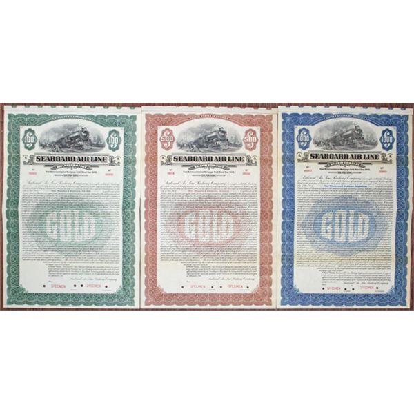 Seaboard Air Line Railway Co., 1915 Specimen Bond Trio