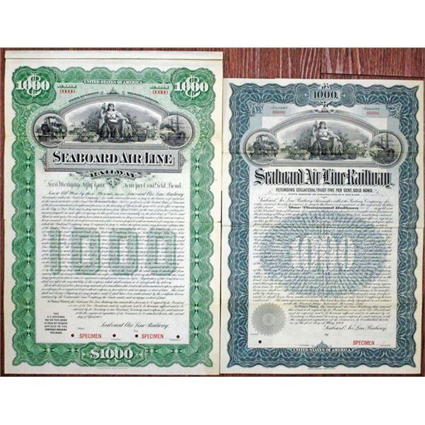 Seaboard Air Line Railway, 1900 and 1901 Specimen Bond Pair
