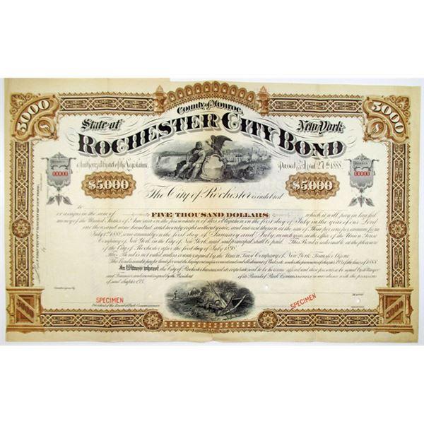 City of Rochester, 1888 Specimen Bond