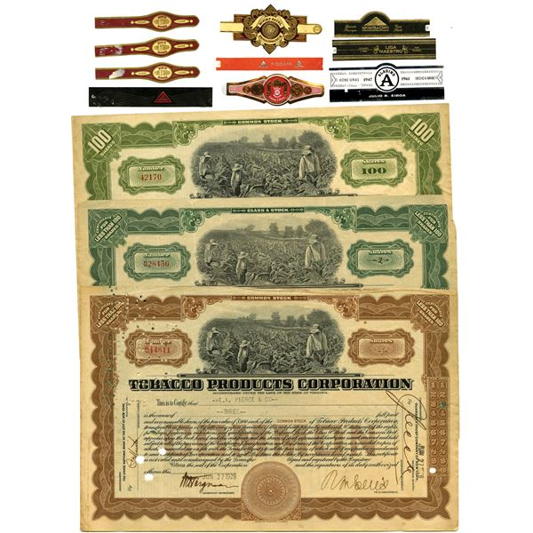 Cigar Labels and Stock Certificate Assortment