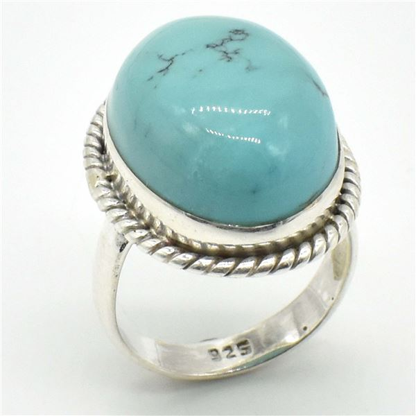 SILVER TURQUOISE(13.5CT)  RING (~WEIGHT 6.1G)