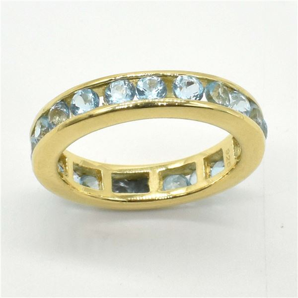 GOLD PLATED SILVER BLUE TOPAZ(2.9CT) GOLD