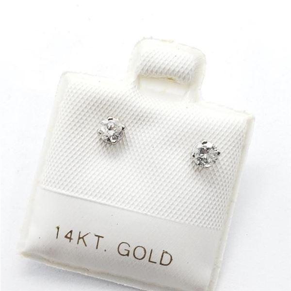 14K WHITE GOLD DIAMOND (I-1,H-I)(0.19CT)