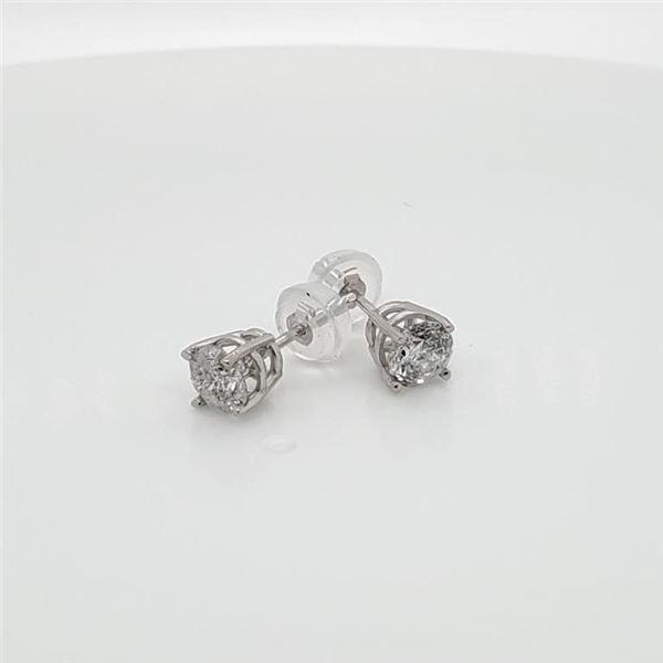 10K WHITE GOLD DIAMOND(1.5CT)  EARRINGS